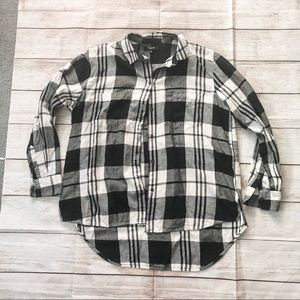 Madewell Ex Boyfriend Plaid Oversize Cotton Shirt